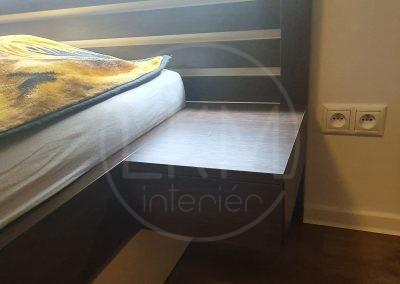 Led podsvietene na posteľ